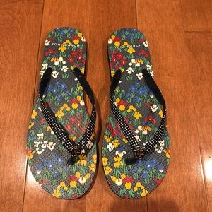 e0d600c23e65 Tory Burch Shoes - Tory Burch Iris Garden Flip Flops